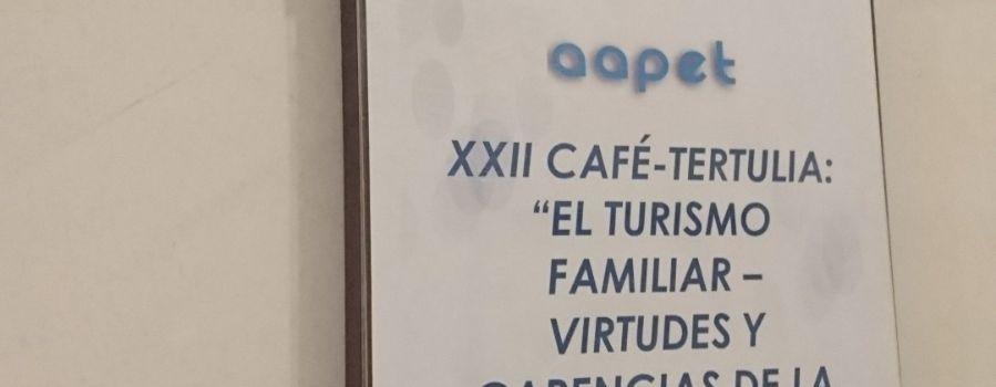 EL TURISMO FAMILIAR, EN EL XXII CAFÉ-TERTULIA DE AAPET & MELIÁ ALICANTE