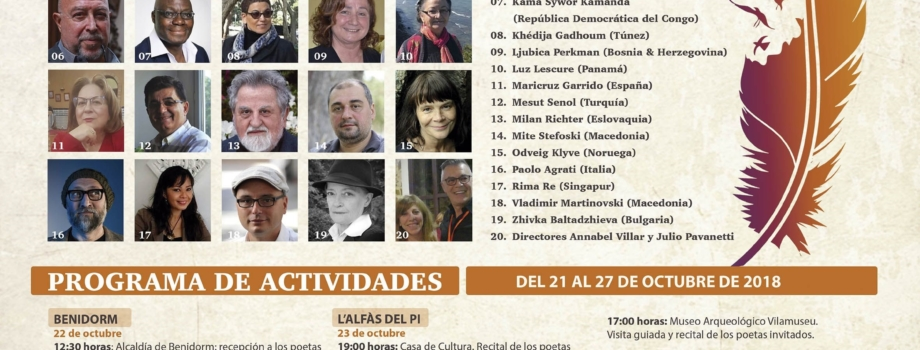 EL III FESTIVAL INTERNACIONAL DE POESÍA VUELVE A BENIDORM Y LA COSTA BLANCA
