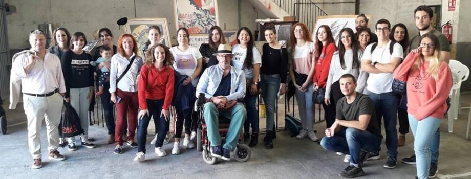 ALUMNOS DEL IES MIGUEL HERNÁNDEZ CON PABLO ROSSER