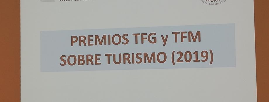 PREMIOS A TRABAJOS FIN DE GRADO Y FIN DE MÁSTER SOBRE TURISMO DE LA UA
