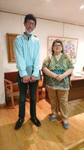 Ganador del premio nacional de Poesía junto a Maribel Berna, presidenta del Ateneo